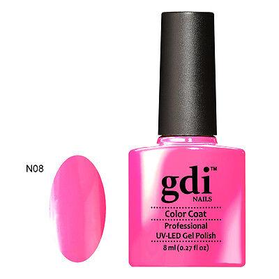 2015 GDi Nails Neon 30 Color Range UV/LED Soak Off Gel Nail Polish TOP BASE