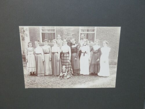 Antique Old CABINET PHOTO Picture Fredericksburg Ohio Armstrong Family Reunion 2