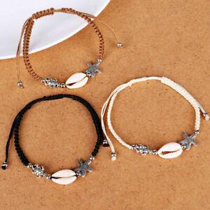 Details About New Sea Turtle S Beaded Charm Bracelet Starfish Adjule Weaved Bracelets