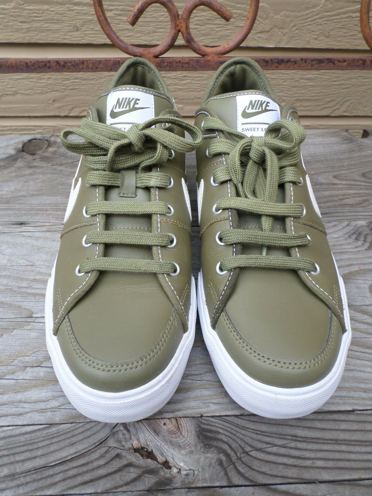Nike Sweet Legacy (429873-201) Olive Green Leather Shoes Men's 11 (eur 45)