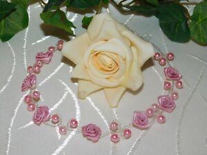 rosa Haarnadeln für Hochzeit//Kommunion 12 tlg.