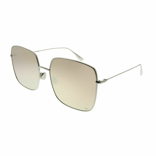 92cc1eadd9 Christian Dior Stellaire 1 010 SQ Palladium Square Sunglasses Pink Mirror  Lens
