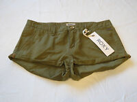Roxy Casual short Shorts juniors womens 27 Cheeky CQW0 Mltry olive green NWT^^