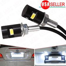 2X White LED SMD Motorcycle & Car License Plate Screw Bolt Light lamp bulb 12V