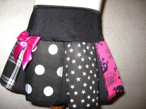 NEW Black White pink skulls tartan stars Skirt Alternative Gothic party Gift