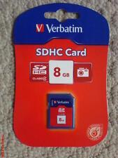 VERBATIM 8GB SDHC MEMORY CARD CLASS 4 PHOTO VIDEO MUSIC BRAND NEW IN PACKET