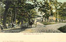 Mother & Child on Swing, Horse & Buggy Nearby, Eddy Farm, Sparrowbush NY 1907