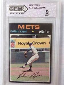 1971-Topps-Nolan-Ryan-513-Mets-Graded-9-MINT-RARE-Low-Pop-BV-2300-Baseball-HOF