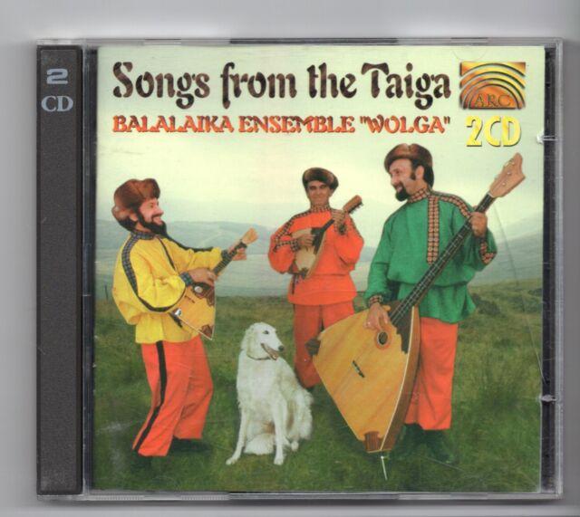(JF353) Balalaika Ensemble, Wolga: Songs from the Taiga - 1996 double CD
