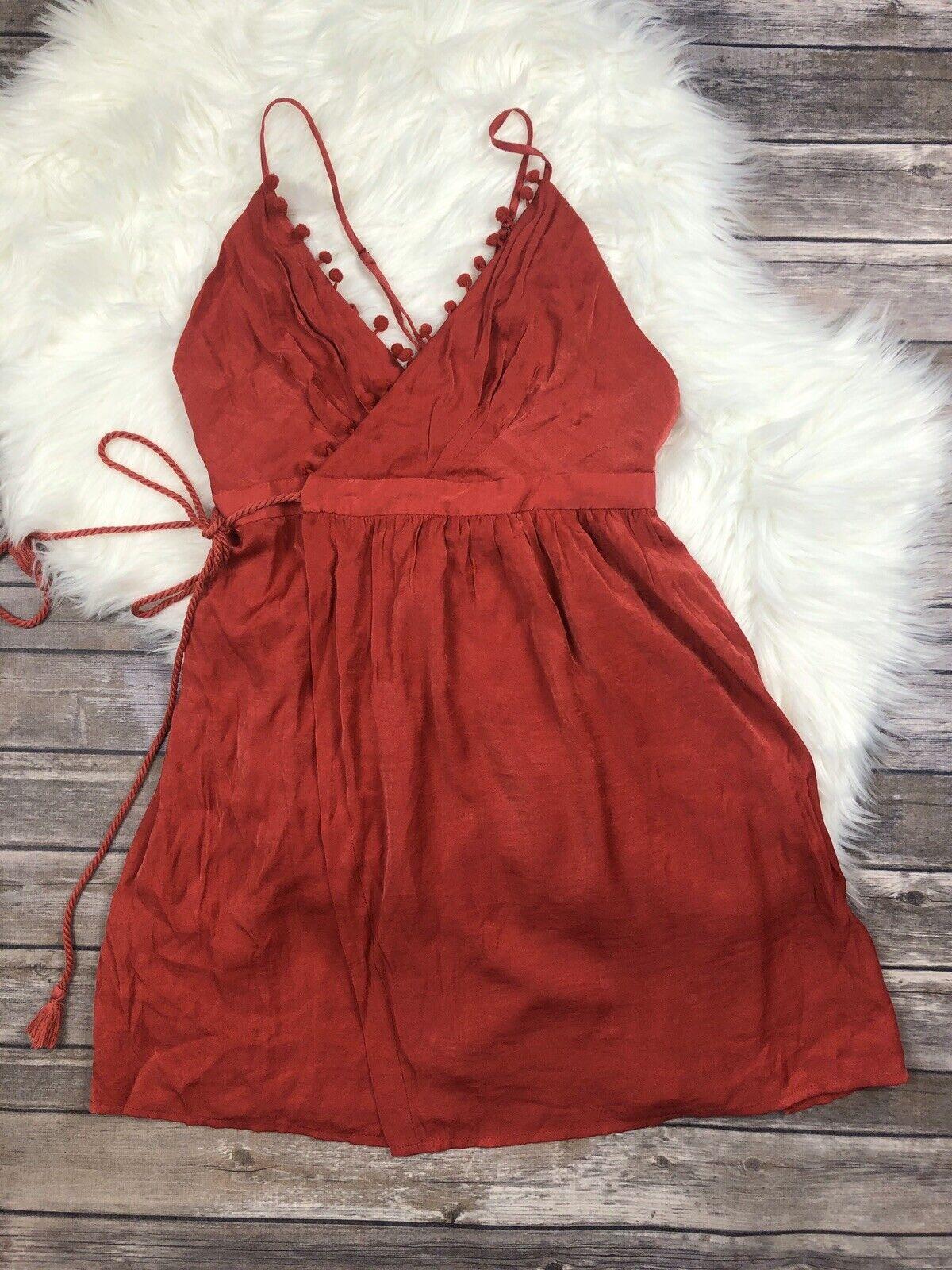 The Jet Set Diaries Leone Wrap Mini Dress Scarlette Small NWT