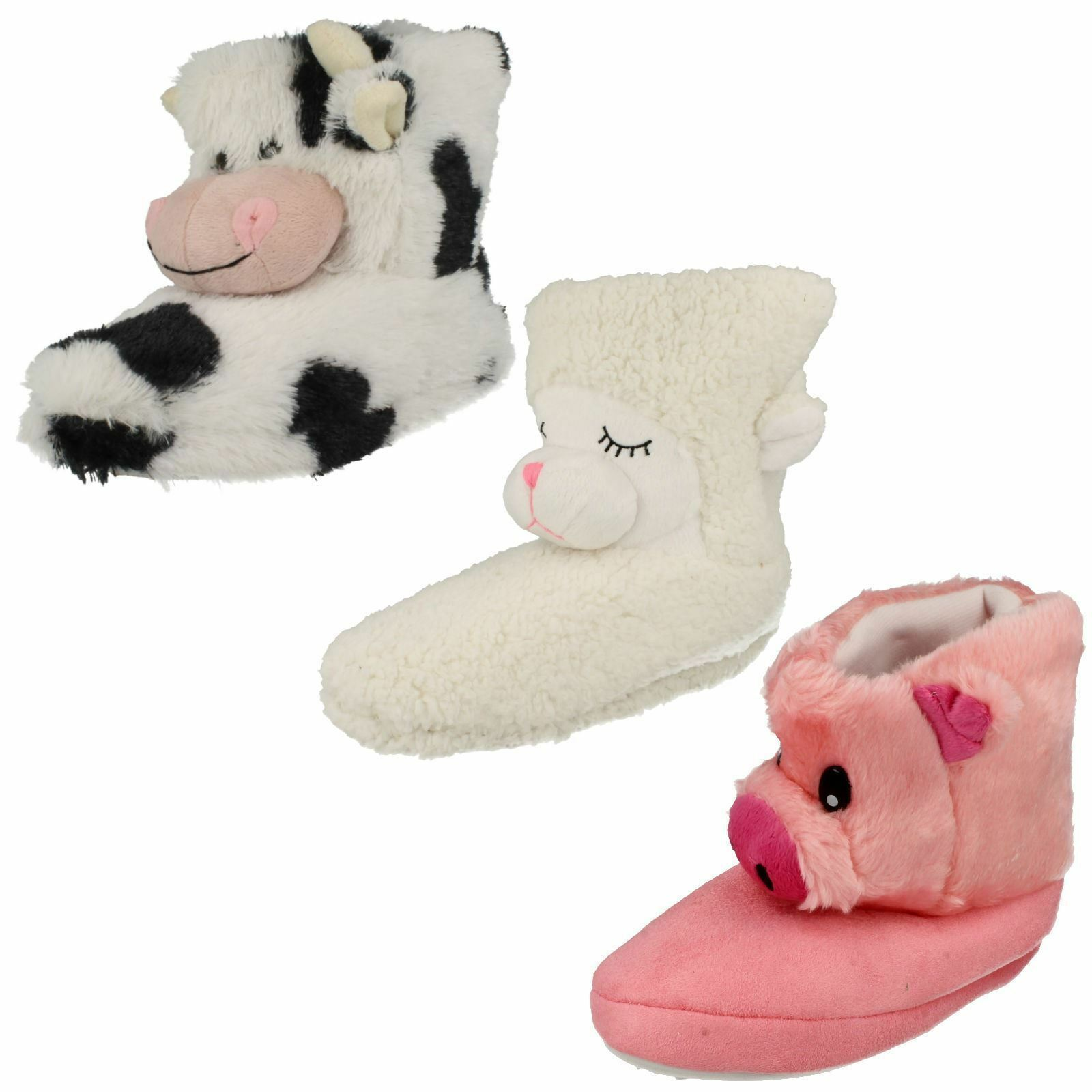 6897- Country Animal Novelty Slipper Boots- Great Cow. Pig & Sheep- Great Boots- Price! 2d2f32
