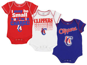 b90e3563272a OuterStuff NBA Infant Los Angeles Clippers 3 Piece Bodysuit Creeper ...