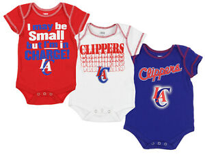 256b45d1496 OuterStuff NBA Infant Los Angeles Clippers 3 Piece Bodysuit Creeper ...
