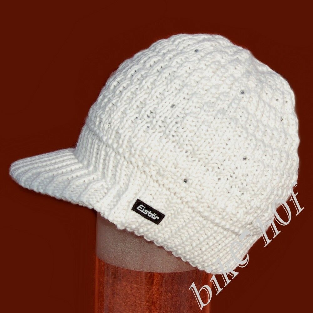 Original Eisbär Ladies Bobble Hat Cosmic Crystal Cap with Swarovski White