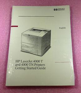 hp laserjet 4000 t and 4000 tn printers getting started guide rh ebay com HP LaserJet 4500 Printer Where to Find Model Number HP LaserJet 4000