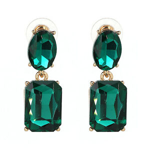 Image Is Loading Zara Green Vintage Style Stud Earrings