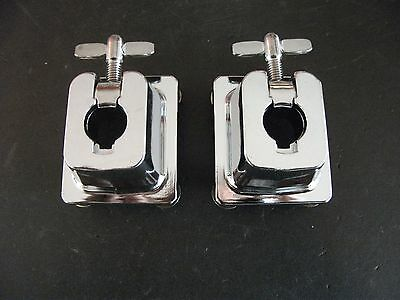"""Pair (2) NEW 3/4"""" Tom Drum Mounts for Arm Posts. Drum Mounting Bracket Parts."""