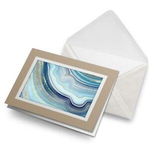 Greetings-Card-Biege-Blue-Gold-Agate-Effect-Art-Marble-21118