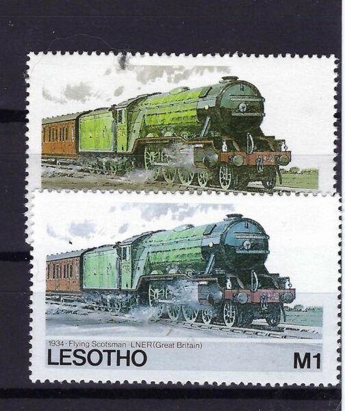 Collection Ici Lesotho 1984, Trains Chemin De Fer, (couleur Nuances), Manquant Couleur Erreur? Bon GoûT