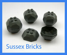 Lego Castle - 4x Dark Bluish Grey Rock Boulder City Mine Star Wars- New Pieces