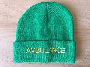 AMBULANCE Beanie   Woolly Hat (GREEN) for Paramedic St John Medic ... 46ff84cd156