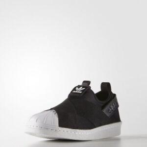 New-Adidas-Original-Womens-Superstar-Slip-On-S81337-BLACK-US-5-0-9-0-Top-Shoes