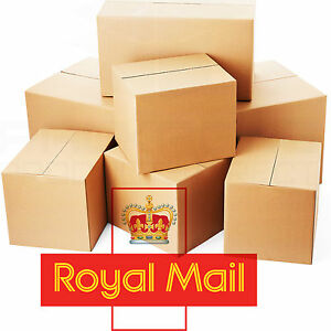 31be4bac9c5 SELECTION OF ROYAL MAIL SMALL PARCEL SIZE POSTAL CARDBOARD BOXES ALL ...