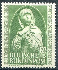 Bund-151-sauber-postfrisch-Nationalmuseum-Nuernberg-BRD-1952-MNH