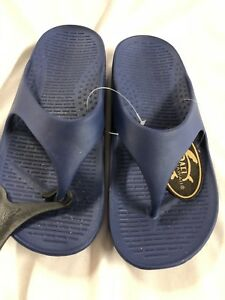 5d358e7f6 Image is loading Pali-hawaii-Thong-Sandals-Dark-Blue-Size-10