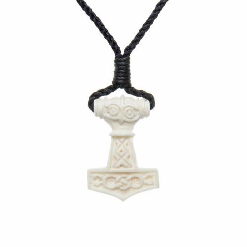 81stgeneration Bone Celtic Norse Thor Hammer Amulet Charm Pendant