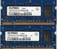 2gb 2x1gb Sony Vaio Pcg-4g2l Pcg-4h2l Pcg-4j1l Pcg-4k1l Pcg-4k2l Notebook Memory