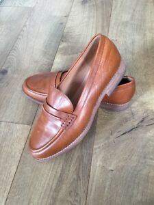 fe8623befd4 New Madewell The Elinor Loafer in Leather Dark Chestnut Sz 11 F5096 ...