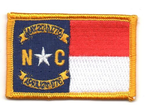NORTH CAROLINA AMERICAN USA FLAG PATCHES  PATCH BADGE IRON ON NEW EMBROIDERED
