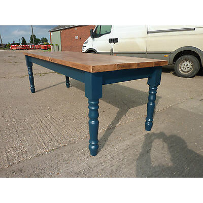 FABULOUS SHABBY CHIC RUSTIC PINE FARMHOUSE DINING TABLE All F&B colours availabl
