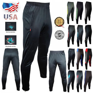 Men-039-s-Sport-Athletic-Soccer-Fitness-Training-Running-Casual-Pants-Trousers-FX201