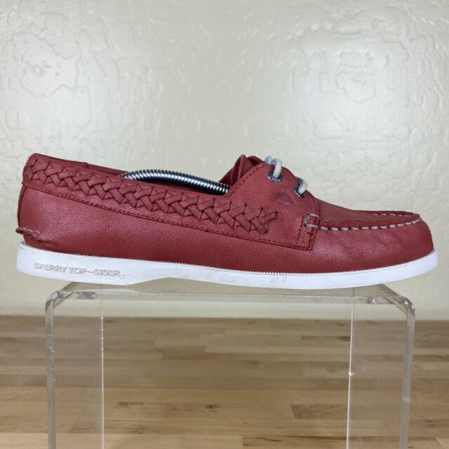 Sperry Original Quinn Boat Shoes Womens Size 7.5 M Coral Pink Leather