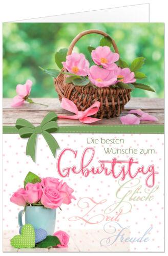 Premium Grußkarten Geburtstag Set Geburtstagskarten Glückwunsch 100 Karten