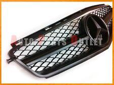 2008-2011 M-BENZ W204 C63AMG Sedan Only Matte Black 1 Fin Mesh Front Grille