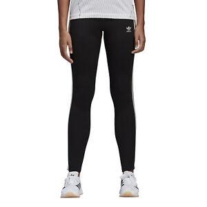 Dettagli su Leggings Donna Adidas Originals 3 stripes Nero Taglia 36 (XS) Cod CE2441 9W