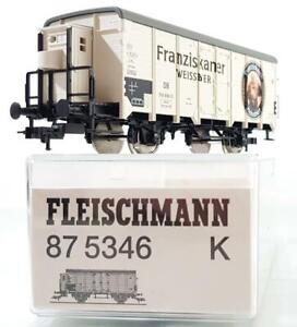 FLEISCHMANN-87-5346-HO-AC-3-RAIL-GERMAN-DB-FRANZISKANER-REFRIGERATED-BEER-VAN
