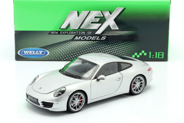 991 Welly NEX Porsche 911 Carrera S Yellow Diecast Model Car 1:18