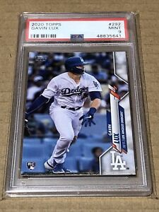 QTY! PSA 9 MINT! GAVIN LUX 2020 TOPPS SERIES 1 BASE ROOKIE CARD DODGERS RC #292
