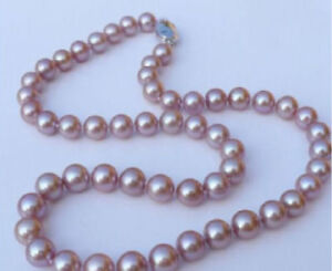 AAA 9-10MM ROUND SOUTH SEA GOLDEN PEARL NECKLACE 18INCH 14K GOLD CLASP