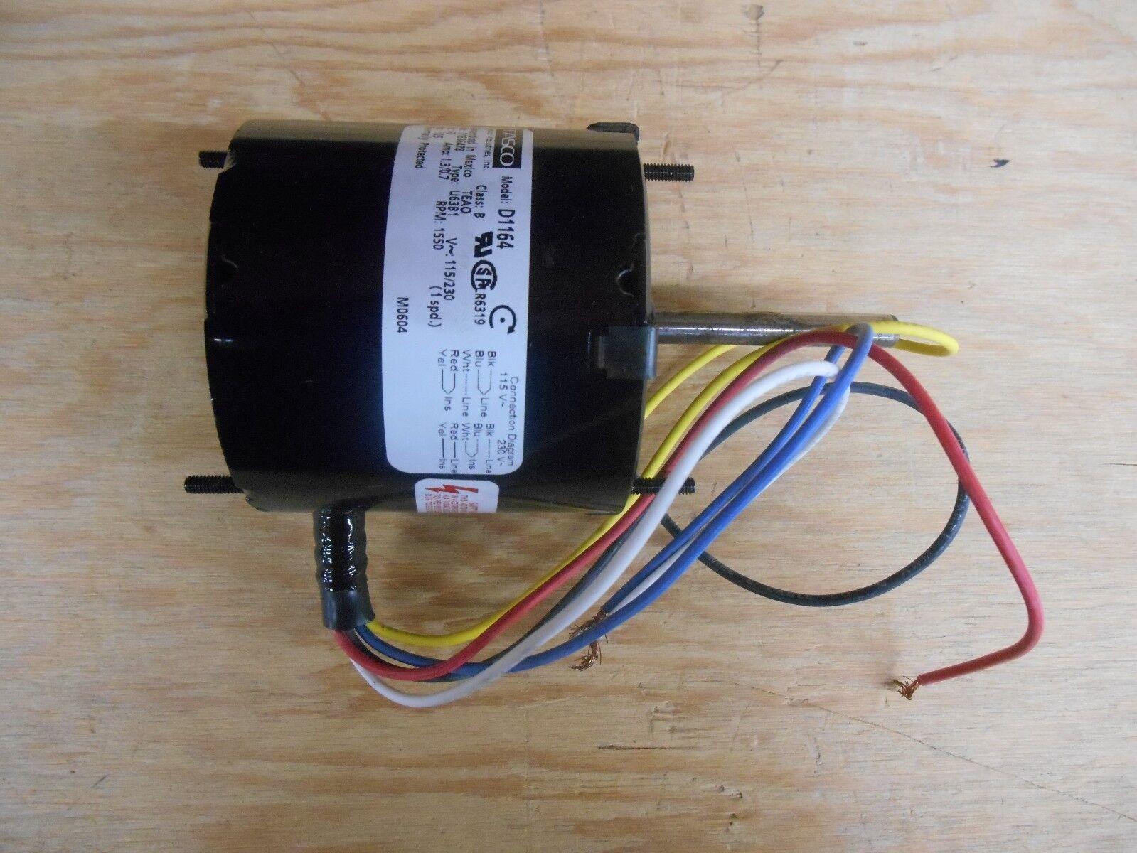 Fasco D1164 Blower Motor 1/25 HP Split-phase 1550 RPM 115 230v on
