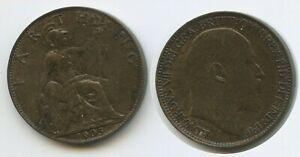 G13869-Grossbritannien-1-Farthing-1905-KM-792-XF-King-George-V-Great-Britain