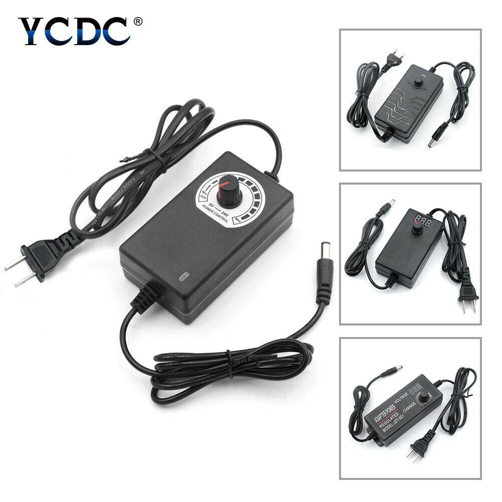 AC To DC Switching Power Supply Voltage Adjustable Adapter  3-12V/9-24V/24-36V 3