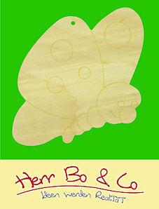 2x Schmetterling Gesicht Holz Anhänger Basteln Malen