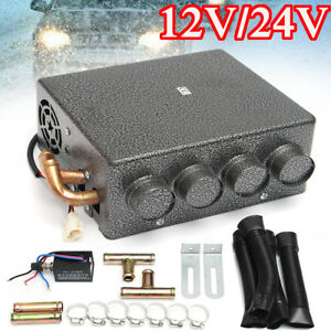 12/24V 4 Ports Car Underdash Universal Double Compact Heater