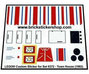 Replica-Transparant-Pre-Cut-Sticker-for-Classic-Town-set-6372-Town-House