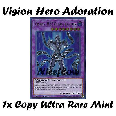 NM Yu-Gi-Oh - Ultra Rare VISION HERO ADORATION BLLR-EN057-1st